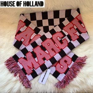 """New! HOUSE OF HOLLAND """"Marc F Jacobs"""" Fringe Scarf"""